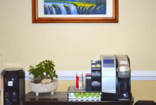 MDFirst Health and urgent care coffee machine